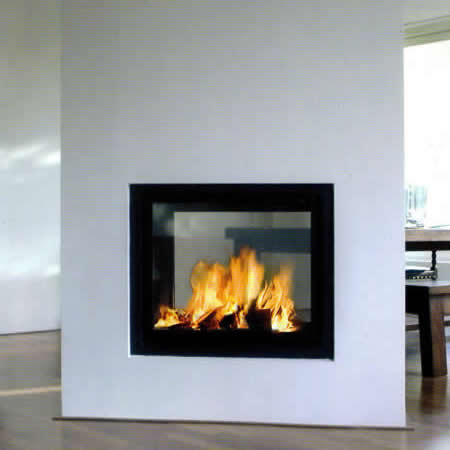 2 sided electric fireplace insert images